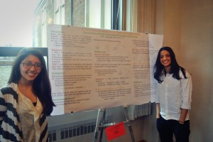 "Camila Alfonso (right), Anaite Castaneda (left), and Brandon Grenier, ""Theoretical Account of Spanish Light Verbs"""